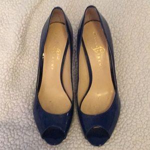 Ivanka Trump Leather Sole Peep Toe Heals - 9 1/2